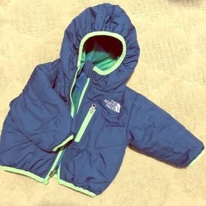 North Face infant reversible coat